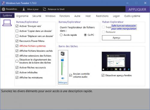Tweaker Windows 10